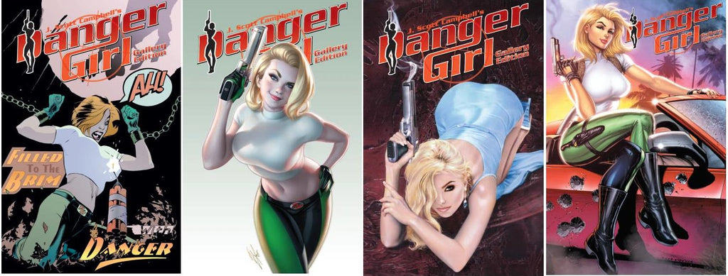 DANGER GIRL GALLERY EDITION KRS COMICS SAN DIEGO CONVENTION EXCLUSIVES