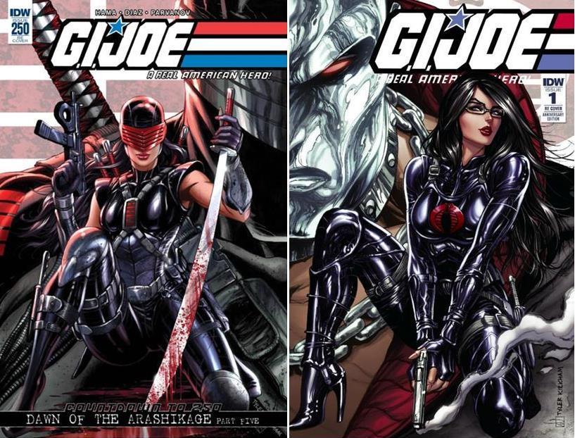 GI JOE A REAL AMERICAN HERO ANNIVERSARY EDITION #1 AND #250 CONNECTING COVER SETS