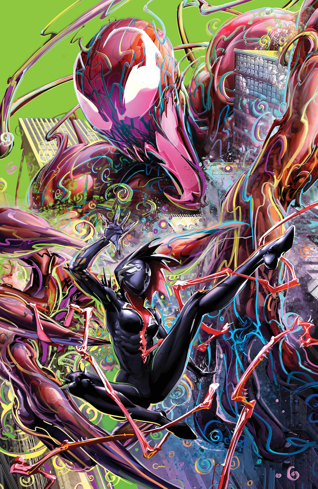 KING IN BLACK GWENOM VS CARNAGE #2 (OF 3) CLAYTON CRAIN BLACK LIGHT VARIANT OPTIONS