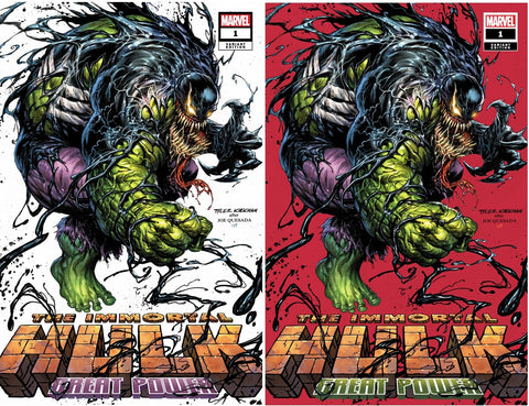 IMMORTAL HULK GREAT POWER #1 TYLER KIRKHAM OPTIONS