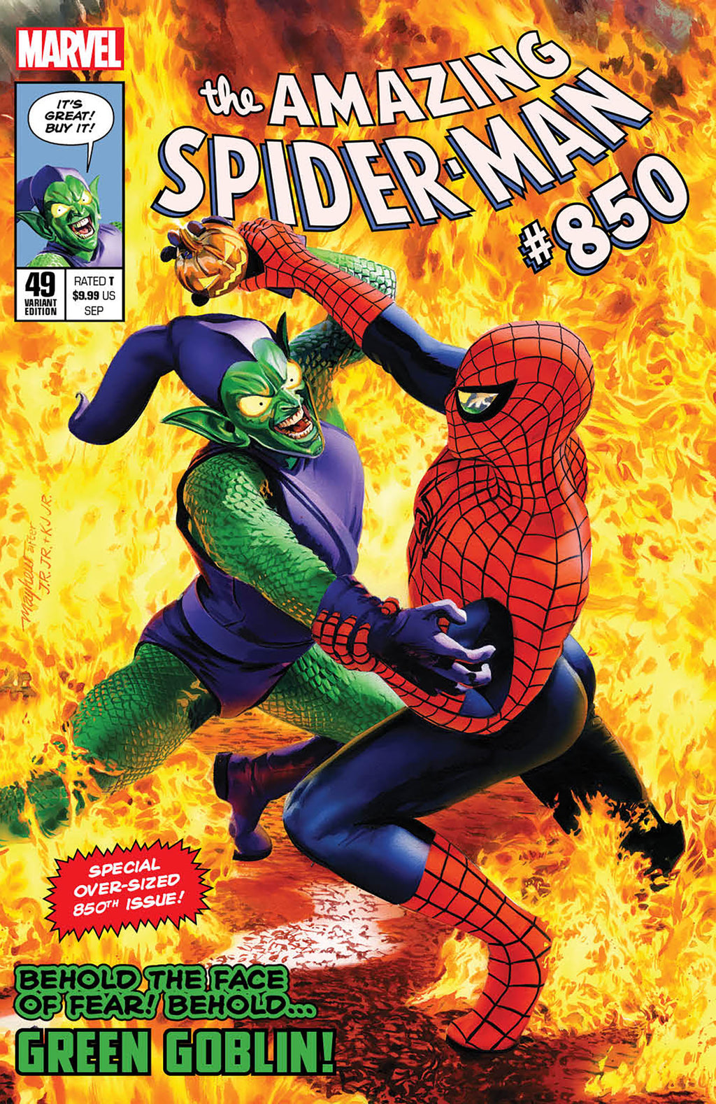 AMAZING SPIDER-MAN #49 )LEGACY #850) MIKE MAYHEW VARIANT OPTIONS