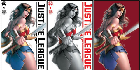 JUSTICE LEAGUE #1 WARREN LOUW VARIANTS