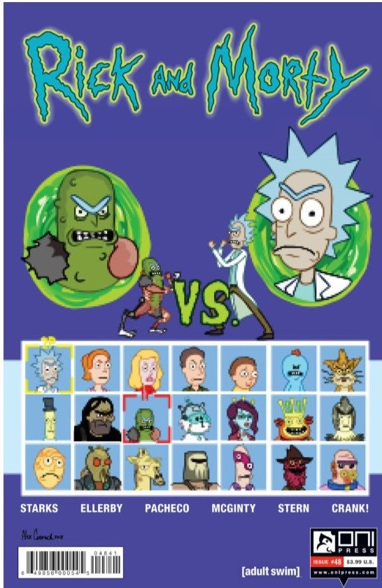 RICK AND MORTY #48 ALEX CORMACK VERSUS PICKLE RICK CON VARIANT