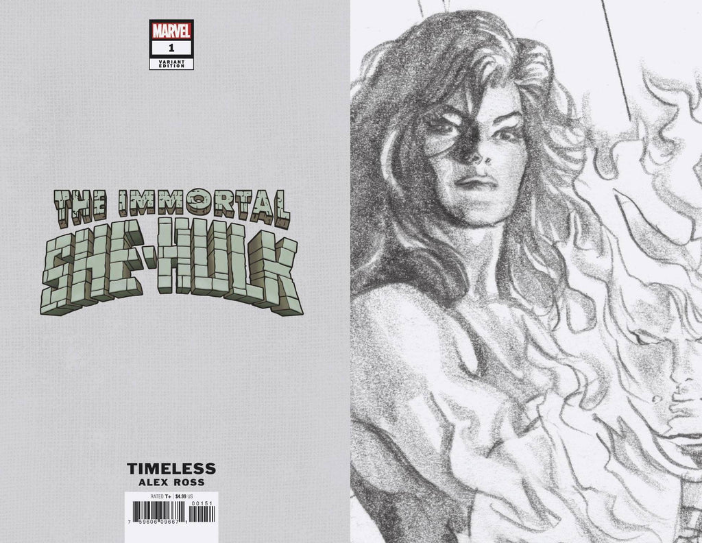 IMMORTAL SHE-HULK #1 ALEX ROSS 1:100 SKETCH VARIANT