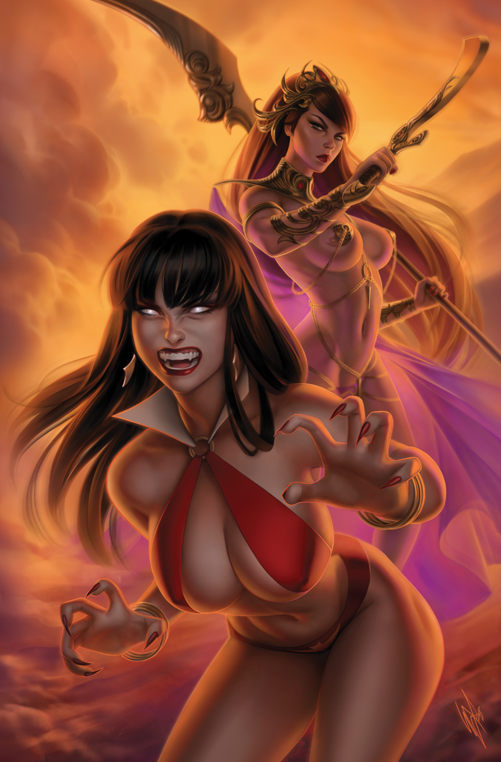 VAMPIRELLA DEJAH THORIS #1 WARREN LOUW VIRGIN VARIANT