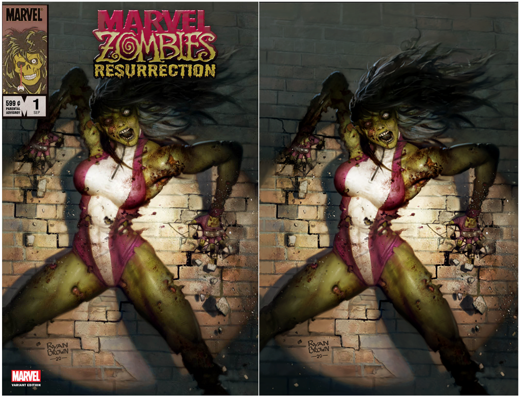MARVEL ZOMBIES RESURRECTION #1 (OF 4) RYAN BROWN VARIANT OPTIONS
