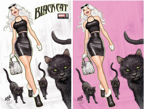 BLACK CAT #1 DAVID NAKAYAMA VARIANTS