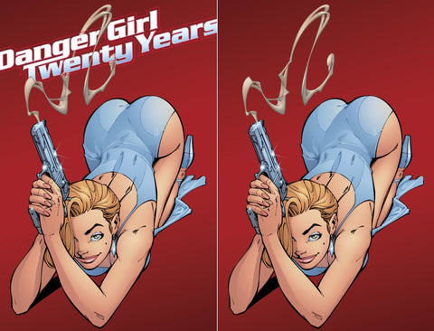 J SCOTT CAMPBELL DANGER GIRL 20TH ANNIVERSARY SMOKING GUN VARIANT