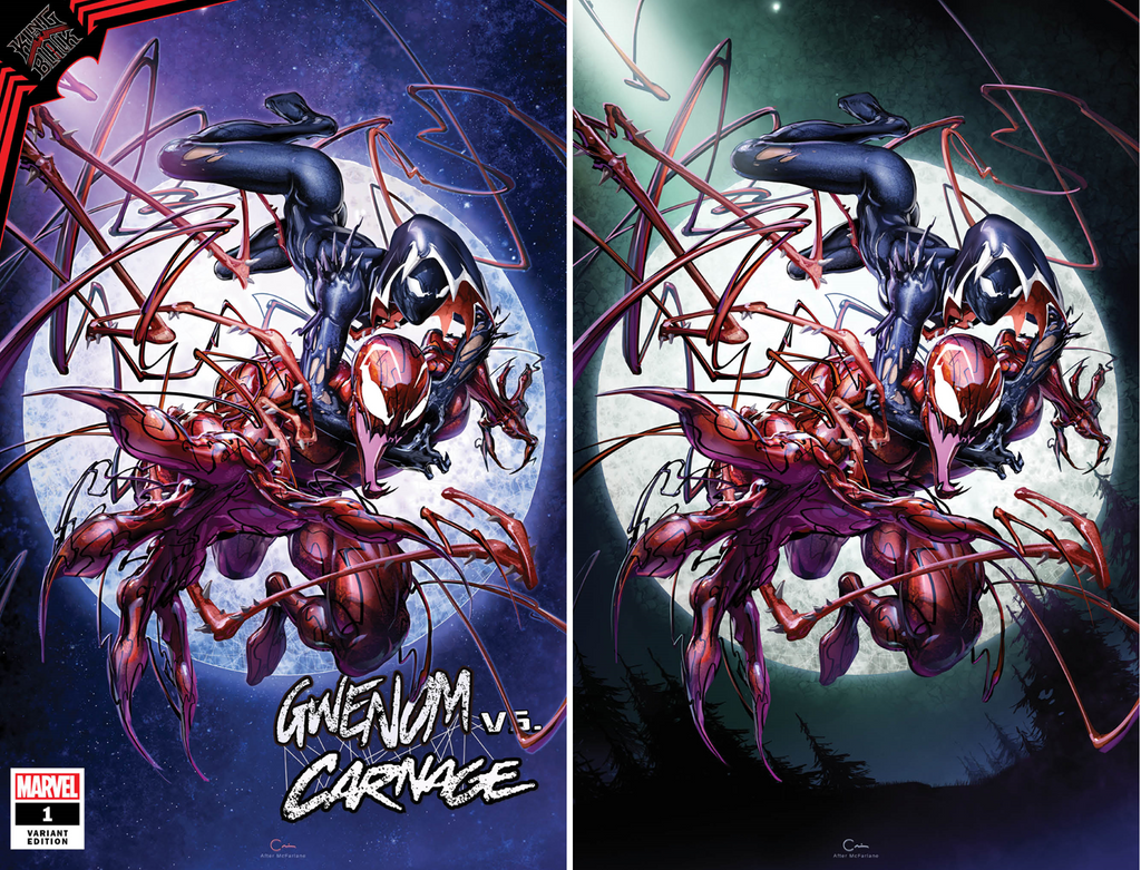 KING IN BLACK GWENOM VS CARNAGE #1 (OF 3) CLAYTON CRAIN VARIANT OPTIONS