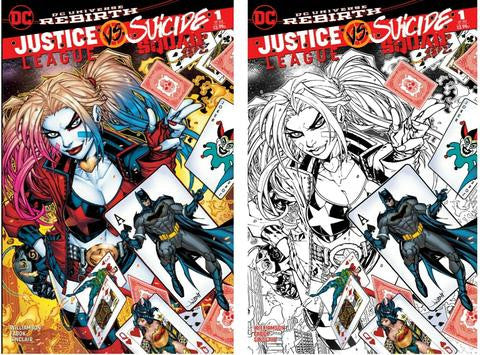 JUSTICE LEAGUE VS. SUICIDE SQUAD #1 KRS COMICS EXCLUSIVE JONBOY MEYERS VARIANTS