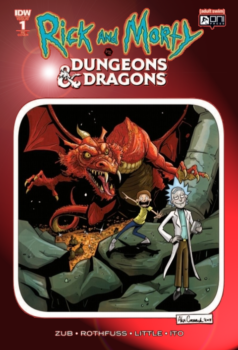 RICK & MORTY VS DUNGEONS & DRAGONS #1 CHROMIUM COVER KRS COMICS ALEX CORMACK VARIANT