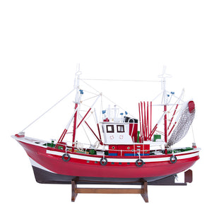 Tuna Fishing Boat II - Model Boat in Red