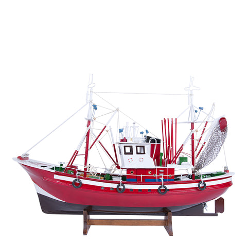 Batela Giftware-Fishing Boats-Tuna Fishing Boat II - Model Boat in Red
