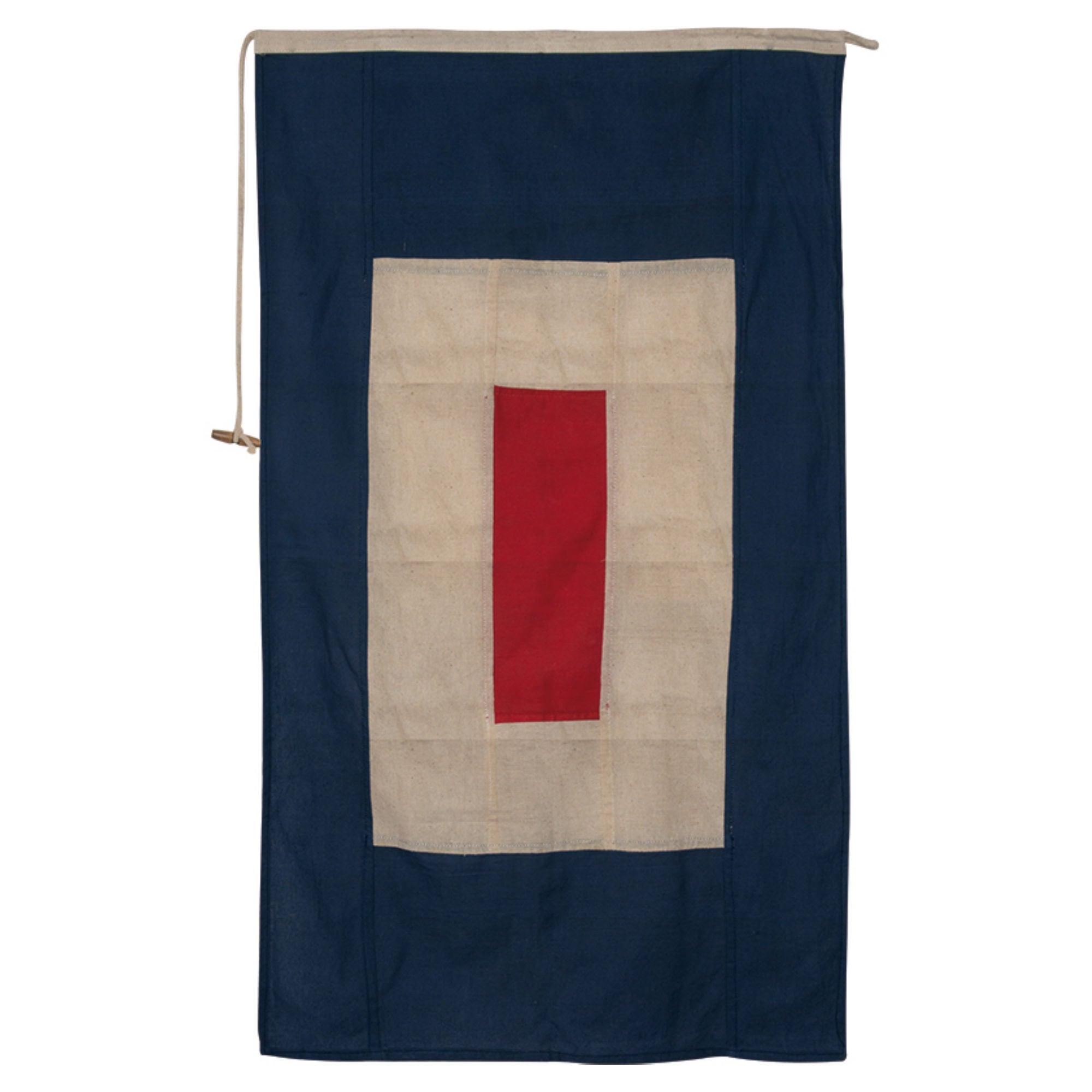 Vintage Nautical Flag- Letter W