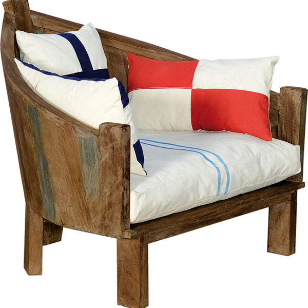 Sea Style Armchair with Cushions