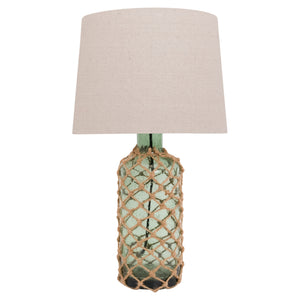 Green Glass Rope Table Lamp