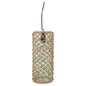 Batela Giftware-Lamp-Green Glass Rope Ceiling Lamp