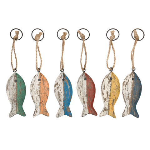 Key Holder - Fish with Stripes (Set of 6)