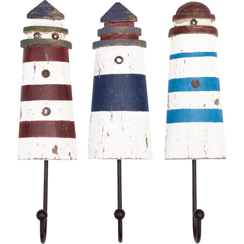 Batela Giftware-Coat Racks & Hooks-Lighthouse Coat Rack Set