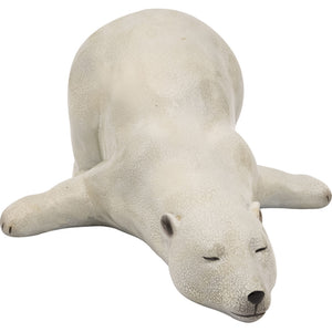 Polar Bear Lying Down Figurine