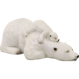Polar Bear with Babybear Figurine
