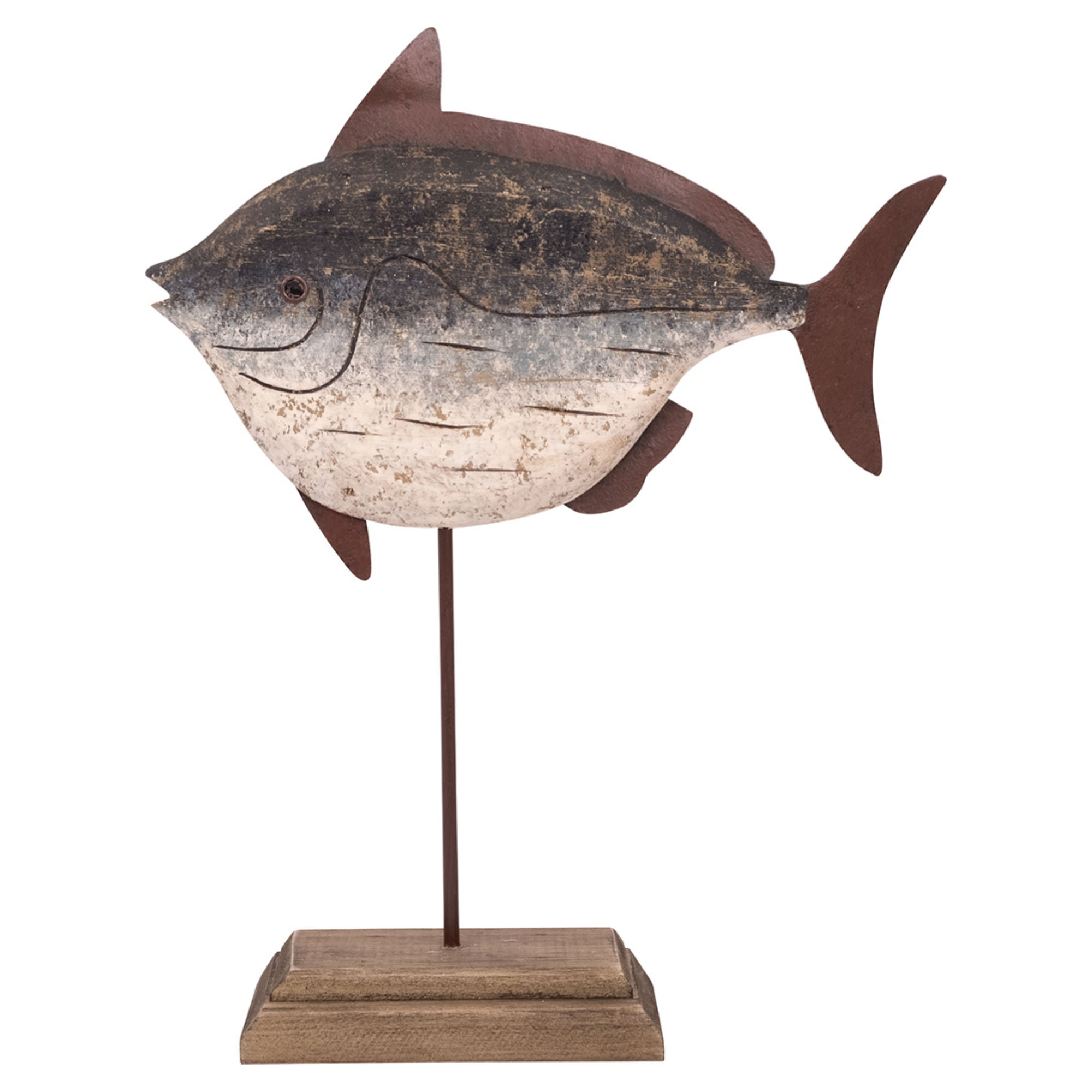 Batela Giftware-Ornaments-Wooden Fish on a Stand