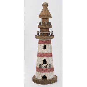 Small Driftwood Lighthouse Ornament, Batela UK