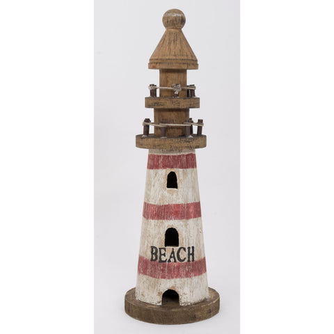 Small Driftwood Lighthouse Ornament