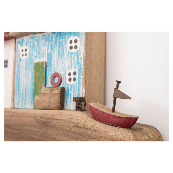 Batela Giftware-Ornaments-Driftwood Lighthouse Coat Rack