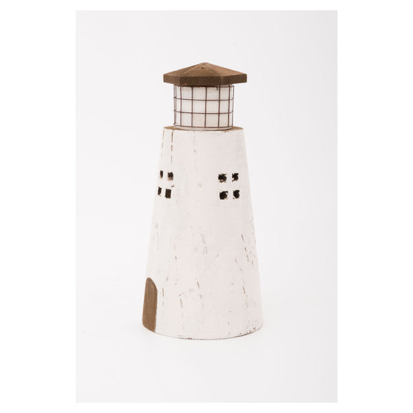 Batela Giftware-Ornaments-Driftwood Ornament Lighthouse