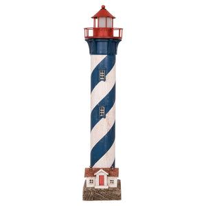 LED Blue & White Tall Lighthouse