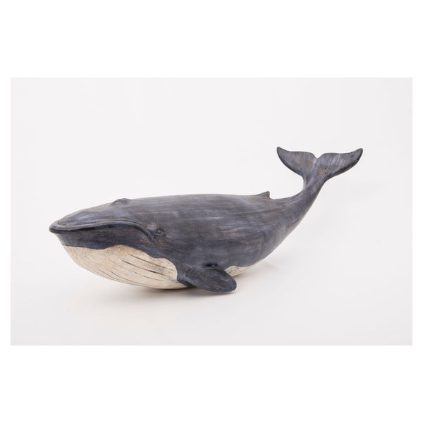 Large Fin Whale Swiming Ornament