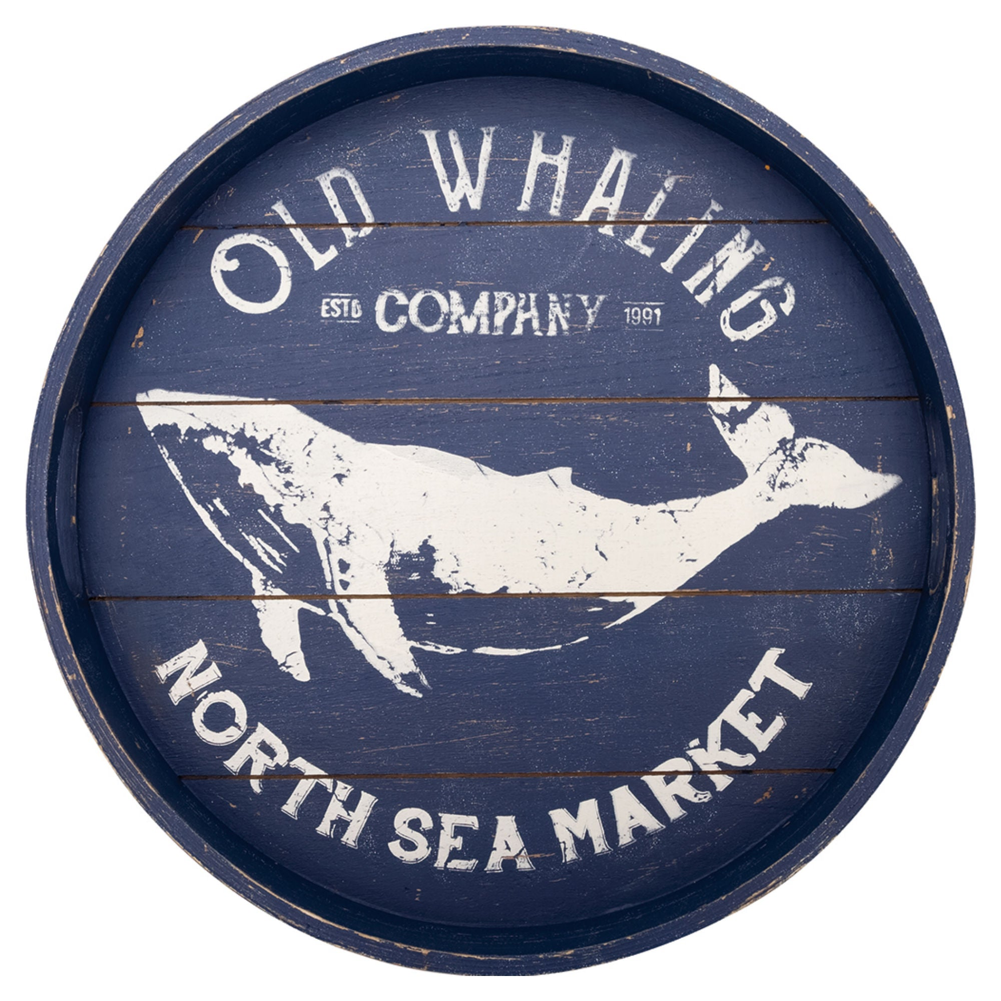 Batela Giftware-Home Decoration-Old Whaling Round Tray