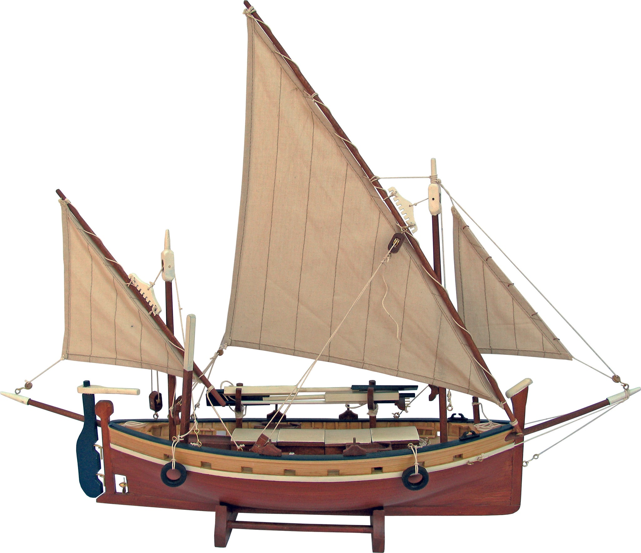 Twin Masted Fishing Boat - Model Boat