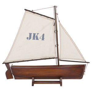 Batela Giftware-Sail Boats-Sailing Dingy in Brown - Model Boat