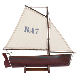 Batela Giftware-Sail Boats-Sailing Dingy in Red - Model Boat