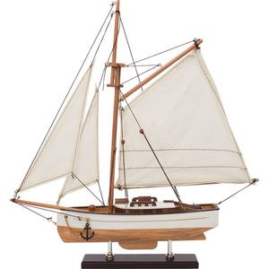 Single Masted Sailing Boat - Model Boat