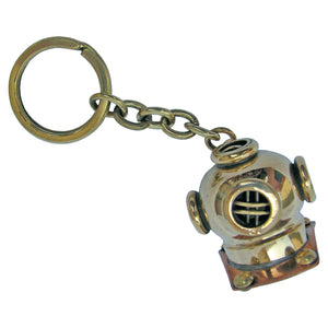 Diving Helmet Key Ring with Wooden Box, Batela UK
