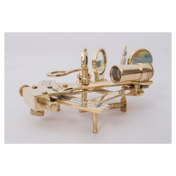 Batela Giftware-Nautical Office Decoration-Brass Sextant, Small