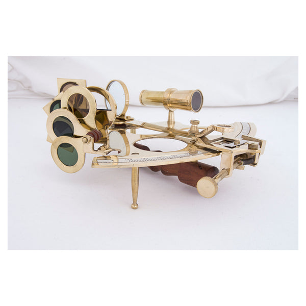 Batela Giftware-Desktop-Sextant in Brass with a Wooden Box