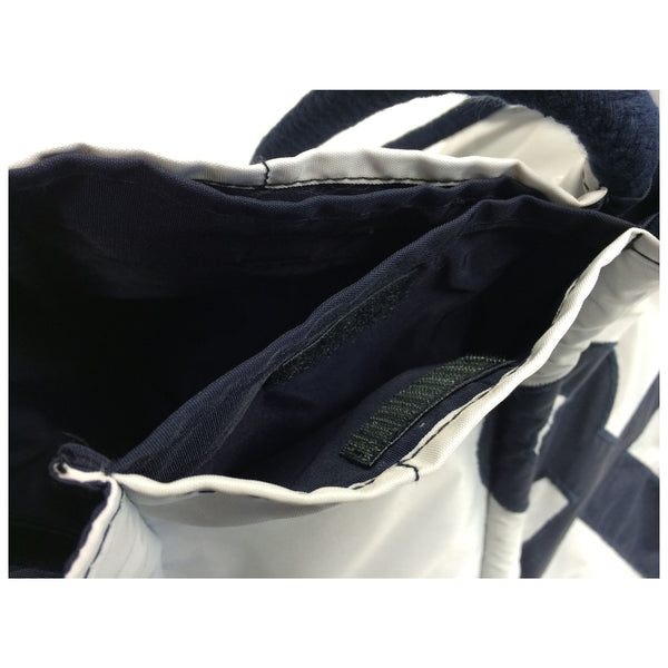 Gym Bag - Navy Blue And White, Batela UK
