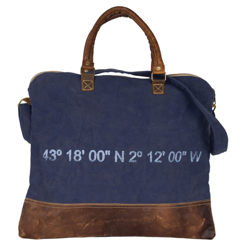 Batela Giftware-Bags-Coordinates Messenger Bag - Blue