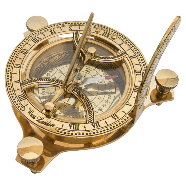 Batela Giftware-Nautical Office Decoration-Brass Sundial Compass Gift Set
