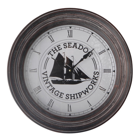 Batela Giftware-Clock-Wall Clock - Sailing Boat