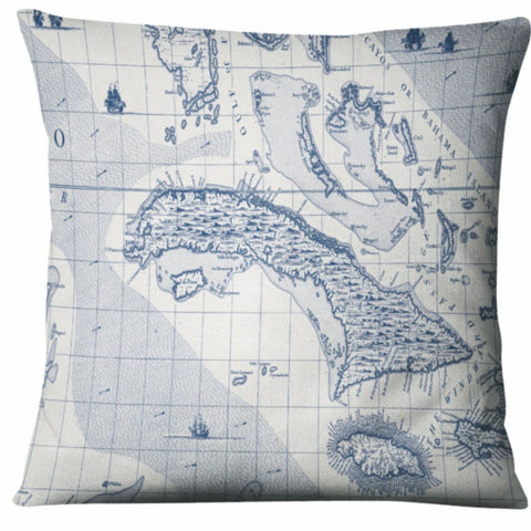 Batela Giftware-Cushions-Ocean & Islands Map Cushion
