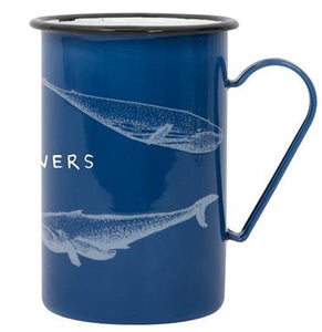 Batela Giftware-Mugs-Whale Design Tall Enamel Mugs (Set of 6)