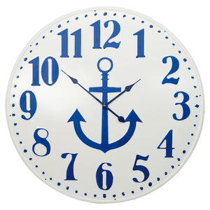 Batela Giftware-Clock-Over Large Nautical Wall Clock