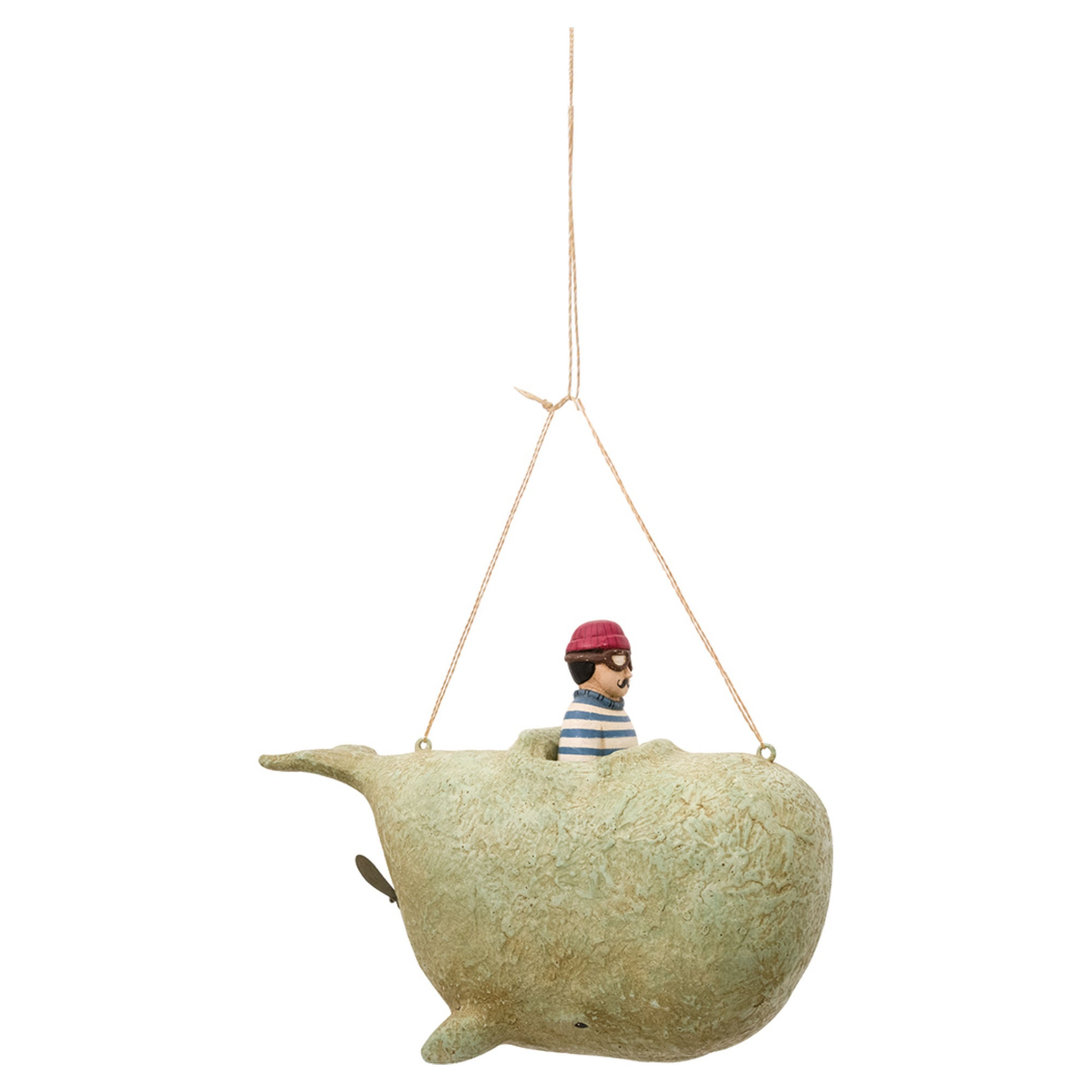 Batela Giftware-Figurines-Flying Sailor on a Whale - Hanging Ornament