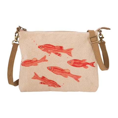 Canvas Hand Bag - Fish Design