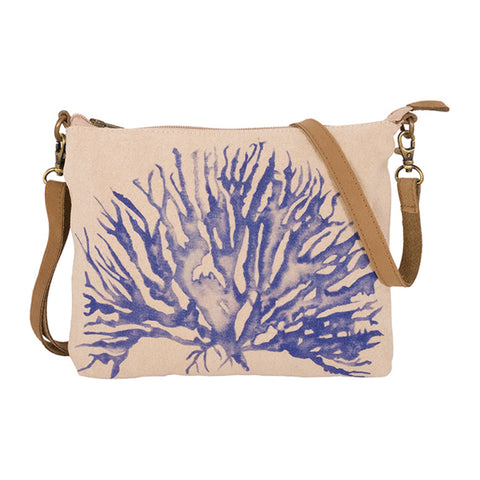 Canvas Hand Bag - Coral Tail Design